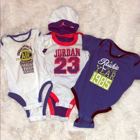cf30594ecae Air Jordan One Pieces | Lot Of 3 Jordan Nike Onesies | Poshmark